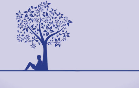 Mann unter einem Baum
